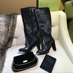 Kenneth Cole calf fur boots